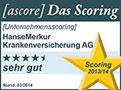 Testsiegel ascore: Hanse-Merkur Krankenversicherung