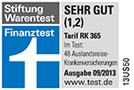 Testsiegel Finanztest: Hanse-Merkur Reiseversicherung