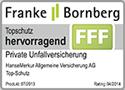 Testsiegel Franke Bornberg: Hanse-Merkur Unfall