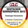 Testsiegel n-tv: Münchener Verein Auslandsreisekrankenversicherung