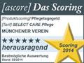 Testsiegel ascore: Münchener Verein Pflegeversicherung