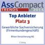 Testsiegel AssCompact: Rhion Betriebshaftpflicht