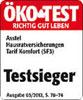 Testsiegel Ökotest 2012 - Hausratversicherung