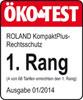 Testsiegel Ökotest 2014 - Roland Rechtsschutzversicherung