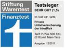 Testsiegel Finanztest 2011 - Unfallversicherung
