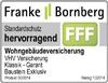 Testsiegel Franke Bornberg: VHV Wohngebäudeversicherung
