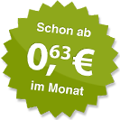 ab 0.63 Euro im Monat
