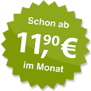 ab 11.90 Euro im Monat