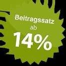 Beitragssatz ab 14%
