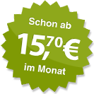 ab 15.70 Euro im Monat