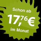 ab 17.76 Euro im Monat