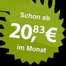 ab 20.83 Euro im Monat