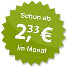 ab 2.33 Euro im Monat