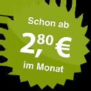 ab 2.80 Euro im Monat