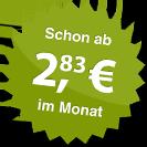 ab 2.83 Euro im Monat
