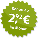 ab 2.92 Euro im Monat