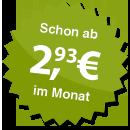 ab 2.93 Euro im Monat
