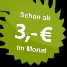 ab 3.00 Euro im Monat