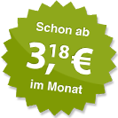 ab 3.18 Euro im Monat