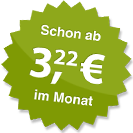 ab 3.22 Euro im Monat