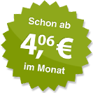 ab 4.06 Euro im Monat