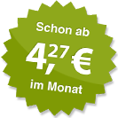 ab 4.27 Euro im Monat