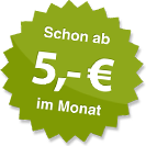 ab 5.00 Euro im Monat