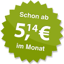 ab 5.14 Euro im Monat