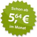 ab 5.64 Euro im Monat