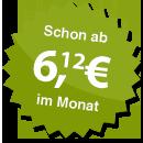 ab 6.12 Euro im Monat