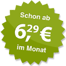 ab 6.29 Euro im Monat