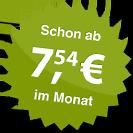 ab 7.54 Euro im Monat