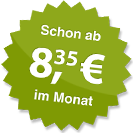 ab 8.35 Euro im Monat