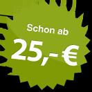 ab 25.00 Euro